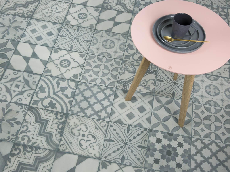 muster der bodenfliesen calabria grau matt 25x25cm feinsteinzeug ebay. Black Bedroom Furniture Sets. Home Design Ideas