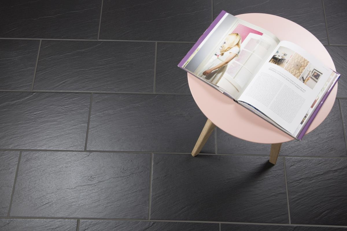 bodenfliese geo schiefer schwarz schieferoptik 30x60cm feinsteinzeug 2 sorte ebay. Black Bedroom Furniture Sets. Home Design Ideas