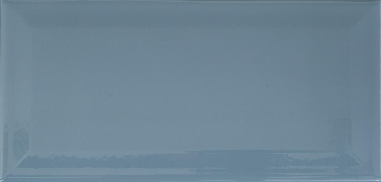 MUSTER der Wandfliese Metro Fliesen blau-grau glossy glänzend ...