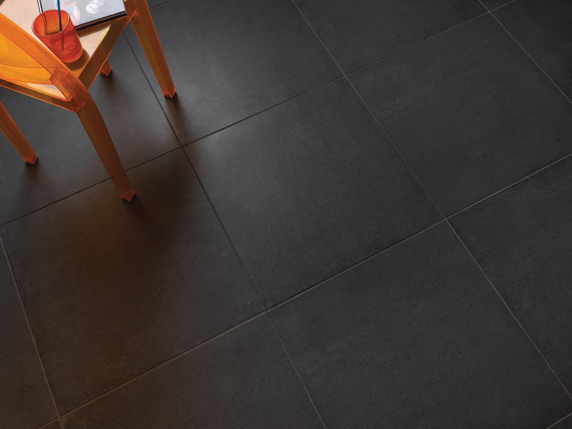 muster der betonoptik bodenfliesen materia schwarz 60x60cm feinsteinzeug r10 ebay. Black Bedroom Furniture Sets. Home Design Ideas