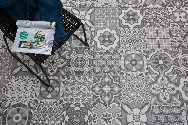Bodenfliese Vintage Decor Mix Grau Matt 25x25cm Feinsteinzeug Bodenfliesen Ebay